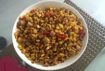 玉米炒火腿的做法