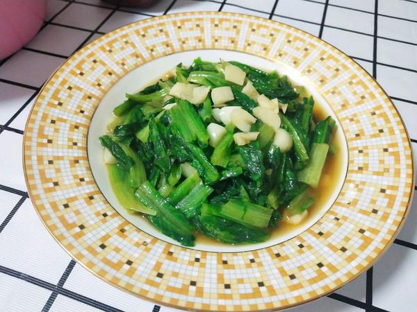 蒜爆油麦菜(新手小白也可以做的素宴)的做法