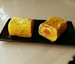 芝士肉肠奶蛋卷的做法