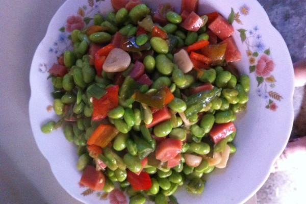 炒豆粒的做法