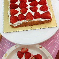 草莓蛋糕的做法图解2