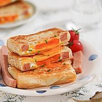 营养快手早餐丨午餐肉鸡蛋饼(手抓饼)的做法图解6