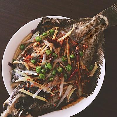 清蒸黄金鲽鱼