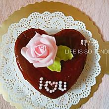 爱心可可戚风蛋糕