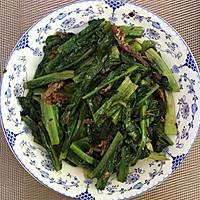 豆豉鲮鱼油麦菜的做法图解3