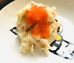 鱼子酱奶酪焗土豆泥的做法