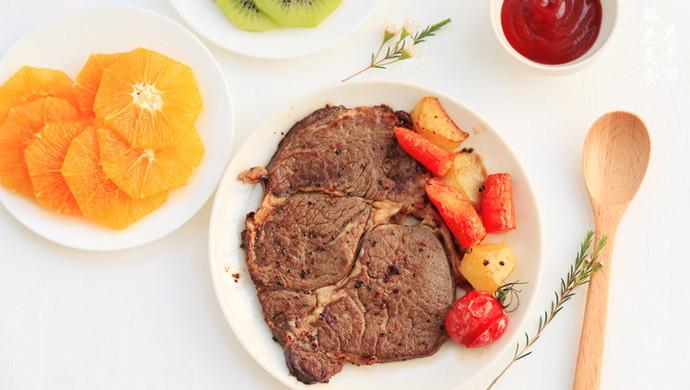 浪漫情人节的美食~煎牛排