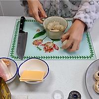 芝士培根芋泥烤口蘑—快手小食系列的做法图解3