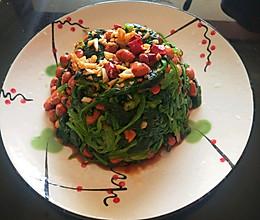 #餐桌上的春日限定#果仁菠菜的做法