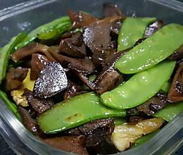 荷兰豆炒卤水鸭肾的做法
