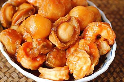 鲍鱼小土豆烧虾球