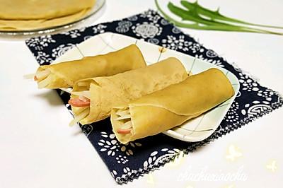 苦荞麦面薄饼土豆卷