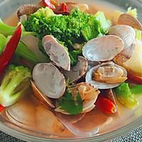 蒜蓉酱海鲜汤