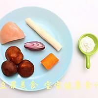 香菇胡萝卜鸡肉丸子  宝宝健康食谱的做法图解1