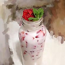大口果粒草莓牛奶#不爱细腻,只爱大口果粒#