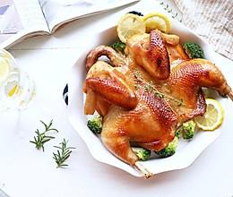 皮脆肉嫩的蜜汁脆皮烤鸡(空气炸锅版)的做法
