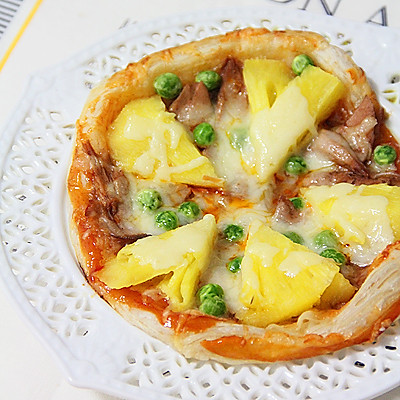 10分钟早餐—飞饼版【菠萝金枪鱼披萨】