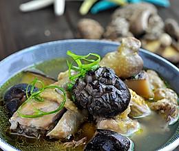 花菇炖鸡汤的做法