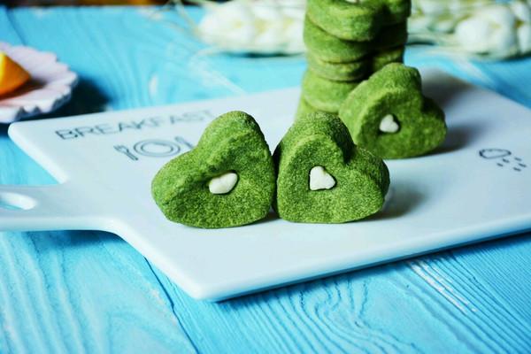 心形抹茶饼干#有颜值的实力派#的做法