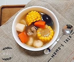 玉米红萝卜淮山马蹄排骨汤的做法