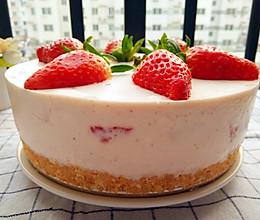 草莓慕斯蛋糕(八寸,免烤型)的做法