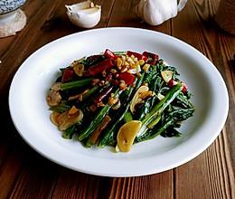 蒜蒜蚝辣油麦菜的做法