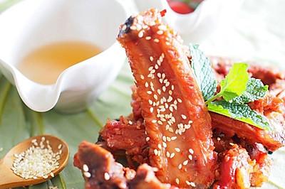 手指尖的酸甜【蜜汁番茄酱烤肋排】