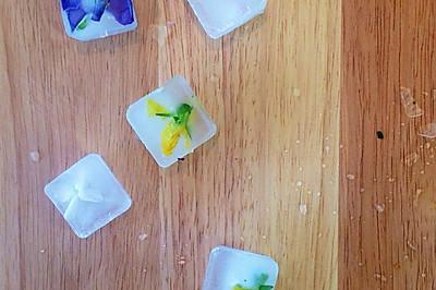 自制食用鲜花冰块