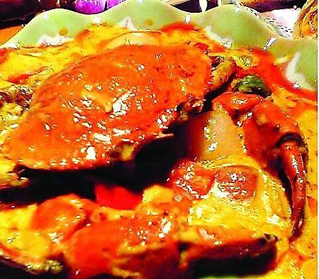 泰式咖喱皇炒蟹的做法