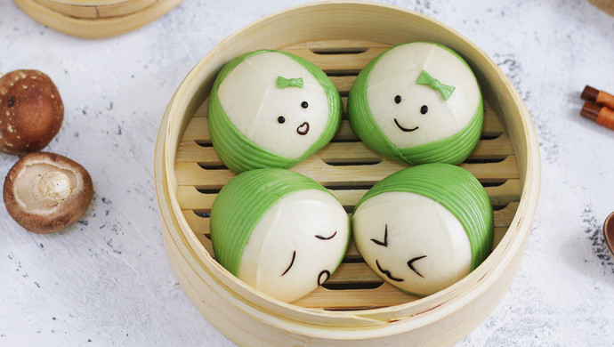 #母亲节,给妈妈做道菜#粽子表情包馒头
