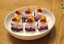 山药紫薯桂花糕+水果(超简单)的做法