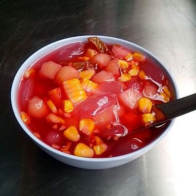 泰式最受亲睐的甜品――菠萝蜜椰奶红宝石