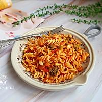 #肉食者联盟#培根芝士番茄意面的做法图解10