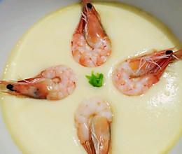 滑嫩可口~鲜虾蒸蛋的做法