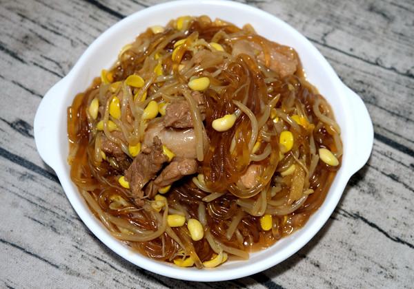 猪肉豆芽炖粉条的做法