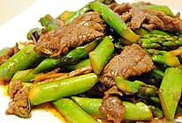 甜辣芦笋牛肉片的做法