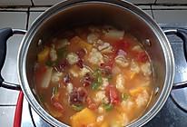 西红柿土豆鸡肉蔬菜面疙瘩(豪华版)的做法
