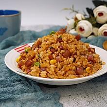 #母亲节,给妈妈做道菜#腊肠炒饭