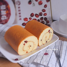 """蔓越莓蛋糕卷#遇见最""""莓好""""的自己#"""