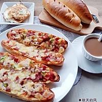 牛奶面包——简易披萨的做法图解12
