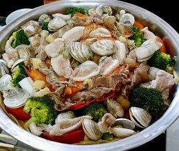 """无水火锅锁住食材营养-教你做""""海鲜汁""""蜜桃爱营养师私厨的做法"""
