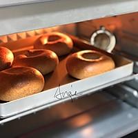 #硬核菜谱制作人#低卡黑麦豆乳贝果&萌物小太阳煎蛋的做法图解15