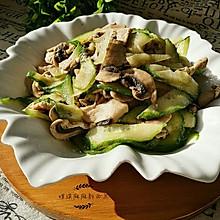鲜蘑菇黄瓜炒肉片