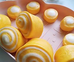 南瓜馒头 | 一次发酵 | 婴儿辅食 | 淡淡的南瓜香的做法