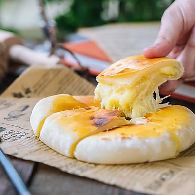 爆浆榴莲芝士饼
