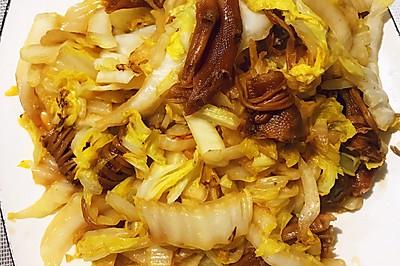 鸭爪炒白菜
