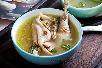 暖身黄蘑鸡汤