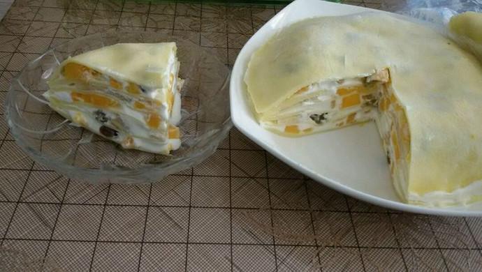 芒果蜜豆千层蛋糕