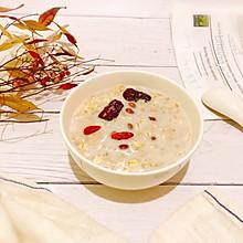 #春季减肥,边吃边瘦#红枣枸杞花生燕麦牛奶粥