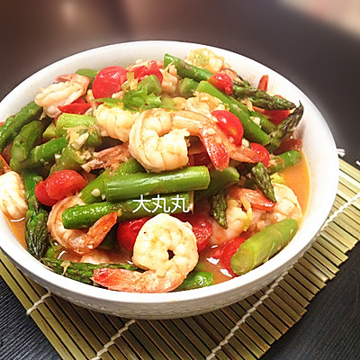 茄汁芦笋虾仁